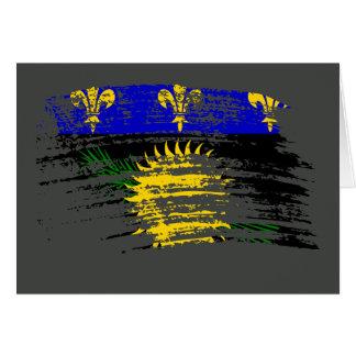Diseño fresco de la bandera de Guadeloupean Tarjetón