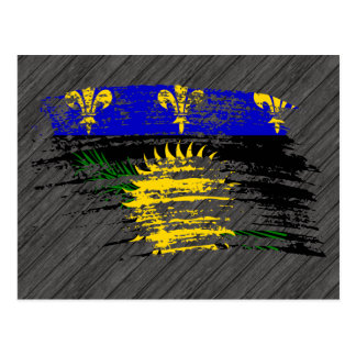 Diseño fresco de la bandera de Guadeloupean Tarjeta Postal