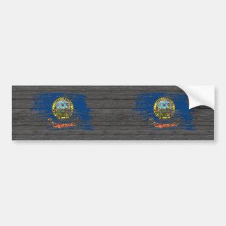 Diseño fresco de la bandera de Idahoan Pegatina De Parachoque