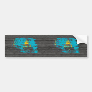 Diseño fresco de la bandera de Kazakhstani Pegatina De Parachoque