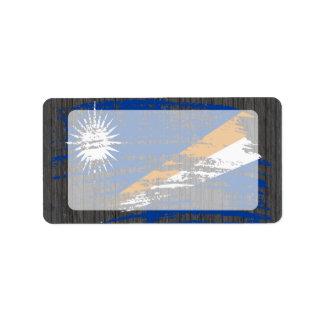 Diseño fresco de la bandera de Marshallese Etiqueta De Dirección
