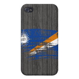 Diseño fresco de la bandera de Marshallese iPhone 4 Carcasa