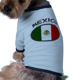 ¡Diseño fresco de la bandera de México! Camisetas De Mascota
