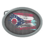 Diseño fresco de la bandera de Ohioan Hebillas De Cinturón