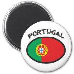 ¡Diseño fresco de la bandera de Portugal! Imán De Frigorífico