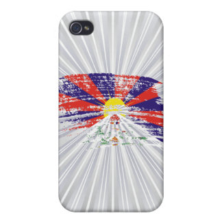 Diseño fresco de la bandera de Tibetese iPhone 4/4S Funda
