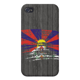 Diseño fresco de la bandera de Tibetese iPhone 4 Carcasa