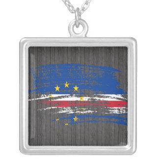Diseño fresco de la bandera de Verdian del cabo Colgante Cuadrado