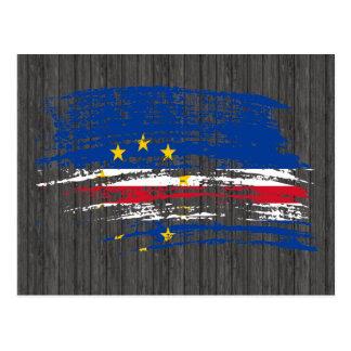Diseño fresco de la bandera de Verdian del cabo Postales
