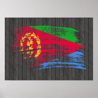 Diseño fresco de la bandera del Eritrean Póster