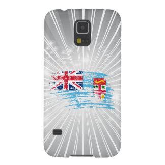 Diseño fresco de la bandera del Fijian Carcasas De Galaxy S5