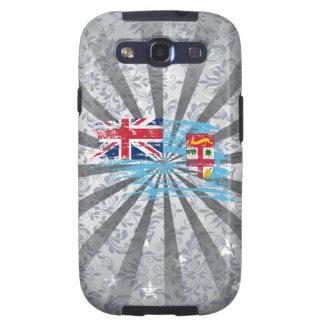 Diseño fresco de la bandera del Fijian Samsung Galaxy S3 Cárcasa