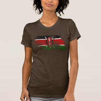 Diseño fresco de la bandera del Kenyan Camisetas