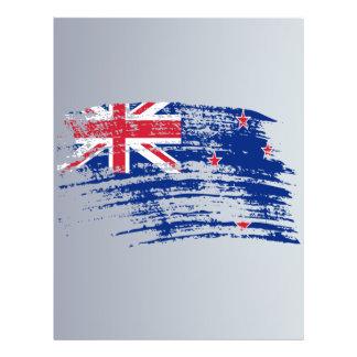 Diseño fresco de la bandera del kiwi flyer a todo color