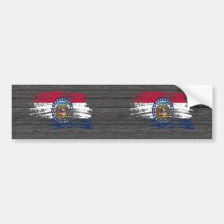 Diseño fresco de la bandera del Missourian Pegatina De Parachoque