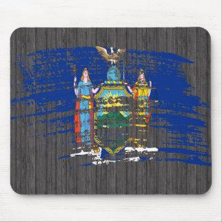 Diseño fresco de la bandera del neoyorquino alfombrillas de raton