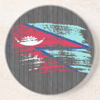 Diseño fresco de la bandera del Nepali Posavasos Para Bebidas