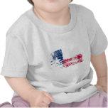 Diseño fresco de la bandera del Texan Camisetas