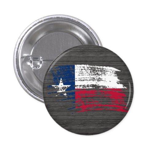 Diseño fresco de la bandera del Texan Pin Redondo 2,5 Cm