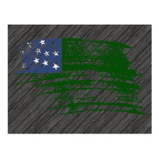 Diseño fresco de la bandera del Vermonter Postales