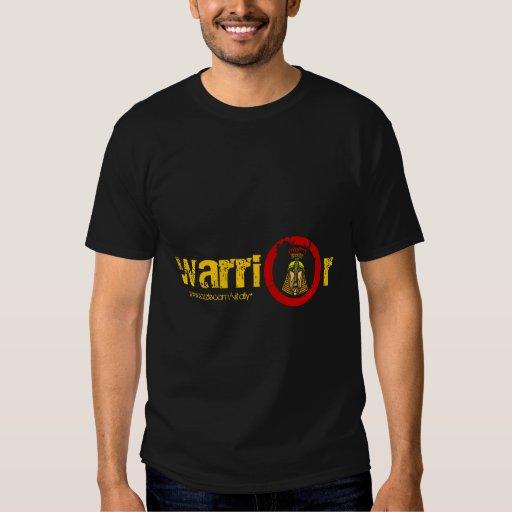 Diseño fresco de la camiseta del guerrero playeras