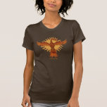 Diseño fresco de la camiseta del pájaro del fuego