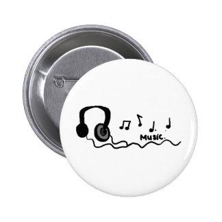 ¡Diseño fresco de la música! Pin Redondo 5 Cm
