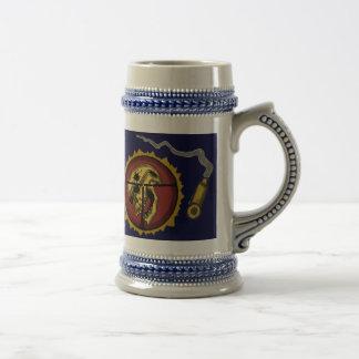 Diseño fresco de la taza de cerveza del