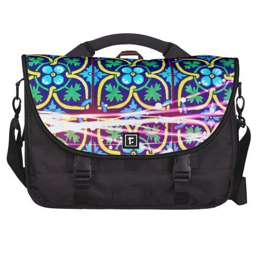 Diseño fresco de la teja del arte de la flor con l bolsas de portatil
