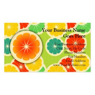 Diseño fresco de los agrios colorido lindo plantilla de tarjeta de visita