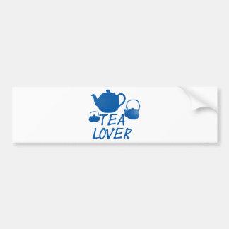 ¡Diseño fresco del amante del té! Pegatina Para Auto