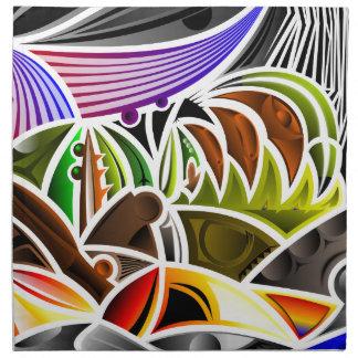 Diseño fresco del arte abstracto servilleta imprimida