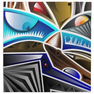 Diseño fresco del arte abstracto servilletas imprimidas