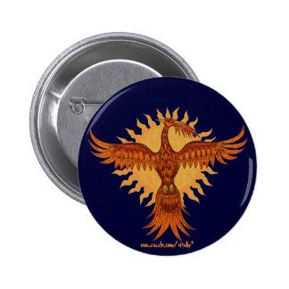 Diseño fresco del botón del pájaro del fuego de Ph Pin Redondo De 2 Pulgadas
