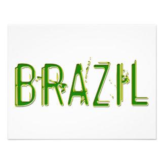 ¡Diseño fresco del Brasil Invitaciones Personales