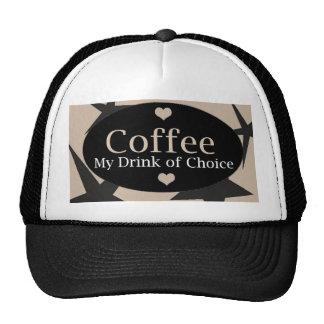 Diseño fresco del café gorras