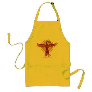 Diseño fresco del delantal del pájaro del fuego de