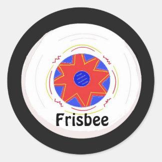 Diseño fresco del disco volador pegatina redonda