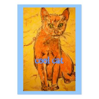 diseño fresco del gato tarjetas personales