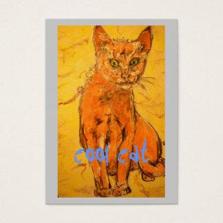 diseño fresco del gato tarjetas de visita grandes