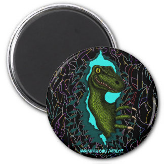 Diseño fresco del imán del dinosaurio del velocira