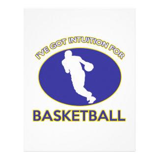 diseño fresco del jugador de básquet membretes personalizados