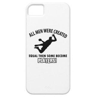 diseño fresco del jugador del balonmano iPhone 5 protector