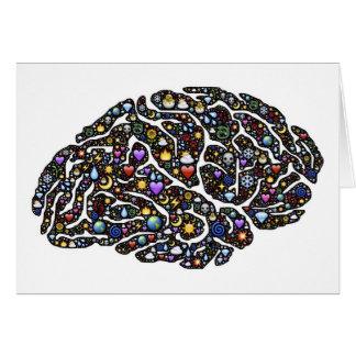 Diseño fresco del modelo del cerebro de Emoji Tarjeta De Felicitación