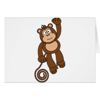 Diseño fresco del mono tarjeta de felicitación