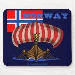Diseño fresco del mousepad de Noruega Tapetes De Ratón