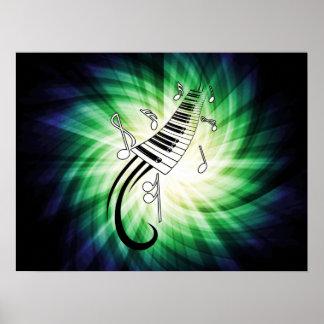 Diseño fresco del piano posters