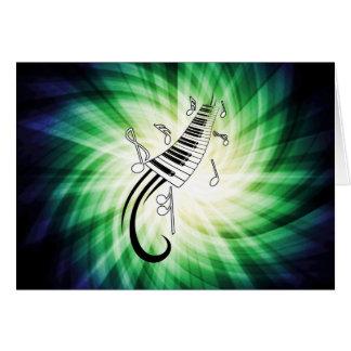 Diseño fresco del piano felicitaciones