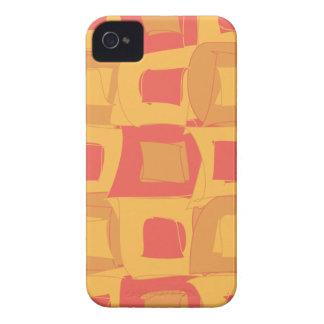 Diseño fresco del pomelo rojo y anaranjado iPhone 4 Case-Mate cárcasas