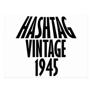 diseño fresco del vintage 1945 postal